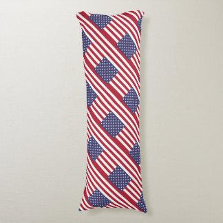 Patriotic Theme American Flag Body Pillow