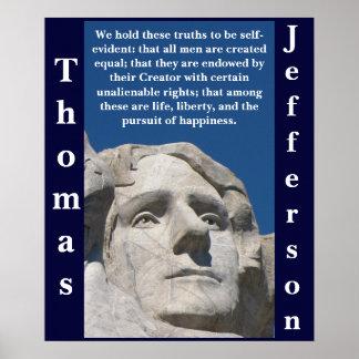 Patriotic Thomas Jefferson Poster