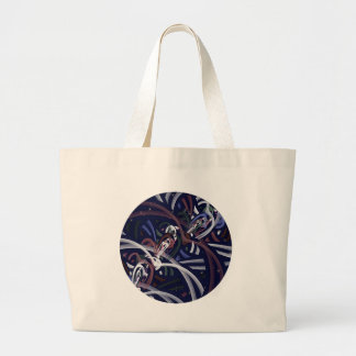 Patriotic Thunder Moon Large Tote Bag