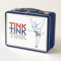Patriotic Tinker Bell Metal Lunch Box