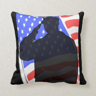Patriotic to soldier salute throw pillow