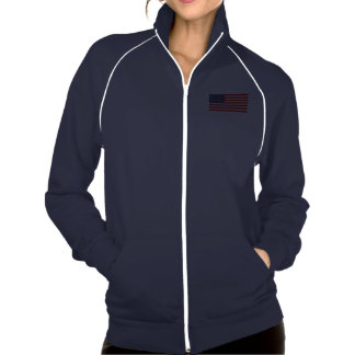 Patriotic track jacket with American flag USA