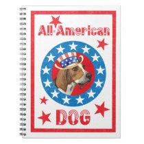 Patriotic Treeing Walker Notebook