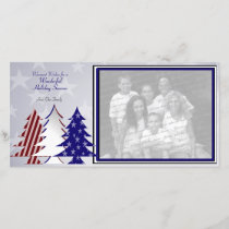 Patriotic Trees Holiday Card