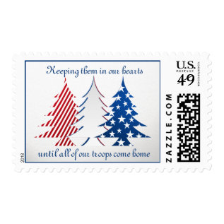 Patriotic Trees Postage at Zazzle