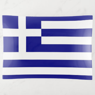 Patriotic trinket tray with flag of Greece
