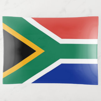 Patriotic trinket tray with flag of South Africa