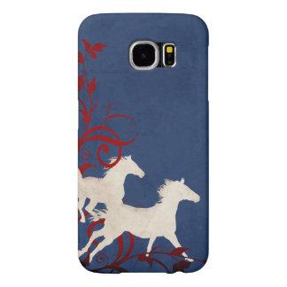 Patriotic Trotting Horses Pattern Samsung Galaxy S6 Case