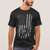 Patriotic Truck Driver American Flag Trucker T-Shirt