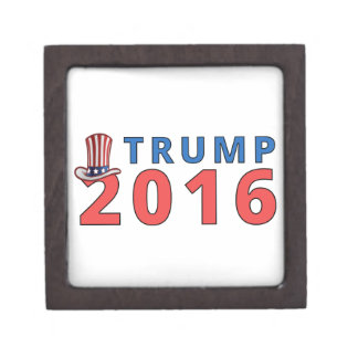 Patriotic Trump 16 Presidential Jewelry Box