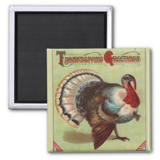 Patriotic Turkey Magnet