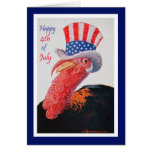 Patriotic Turkey on 4th of July Greeting Cards