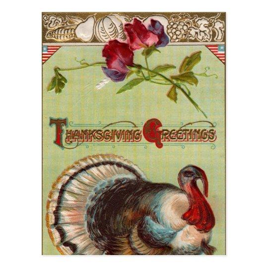 Patriotic Turkey Vintage Postcard