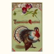 Patriotic Turkey Vintage Thanksgiving Poster