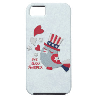 Patriotic Tweets Red White and Blue Bird iPhone SE/5/5s Case