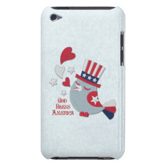 Patriotic Tweets Red White and Blue Bird iPod Touch Cover