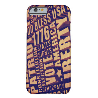 Patriotic Typography Barely There iPhone 6 Case