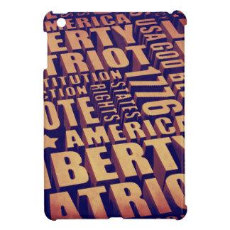 Patriotic Typography iPad Mini Cover