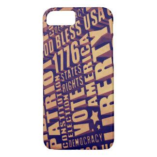Patriotic Typography iPhone 8/7 Case