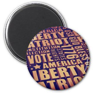 Patriotic Typography Magnet