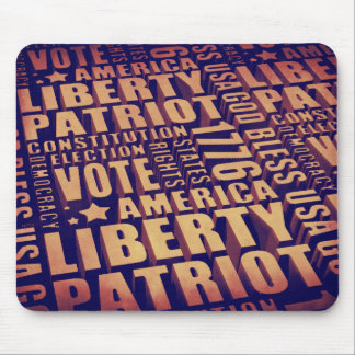 Patriotic Typography Mouse Pad