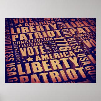 Patriotic Typography Poster