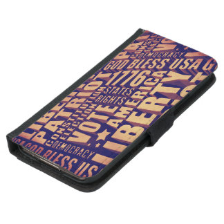 Patriotic Typography Wallet Phone Case For Samsung Galaxy S5