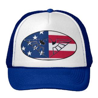 Patriotic U S A  rustic eagle and flag - Hat