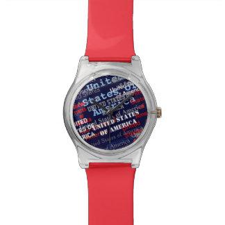 patriotic U.S.A. Wrist Watches