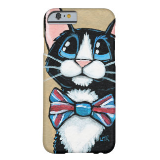 Patriotic UK Tuxedo Cat wearing Bow Tie Painting Barely There iPhone 6 Case