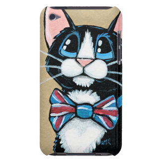 Patriotic UK Tuxedo Cat wearing Bow Tie Painting iPod Touch Case-Mate Case