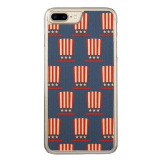 Patriotic Uncle Sam Hat Carved iPhone 7 Plus Case