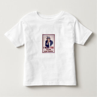 PATRIOTIC UNCLE SAM - I want you to love... Toddler T-shirt