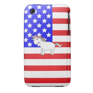Patriotic Unicorn iPhone 3 Case