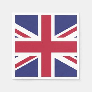 Patriotic United Kingdom Flag Paper Napkin