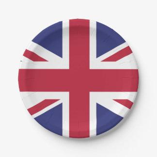 Patriotic United Kingdom Flag Paper Plate