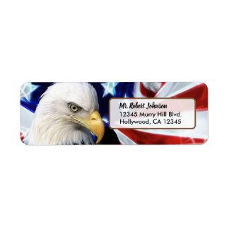 Patriotic United States Bald Eagle Label