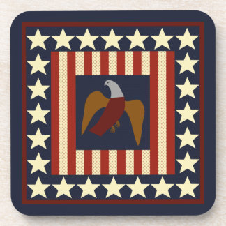 Patriotic United States Civil War Era Union Eagle Beverage Coaster