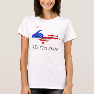 Patriotic Upper Peninsula Yooperland 51st State T-Shirt