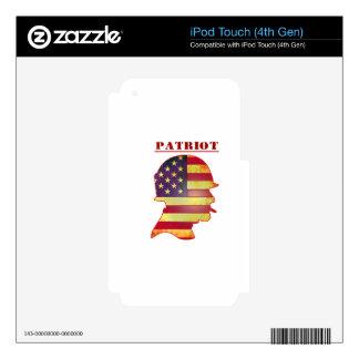 Patriotic US American Flag Military Helmet iPod Touch 4G Skins