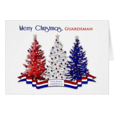 PATRIOTIC US CHRISTMAS, Guardsman, Coast Guard