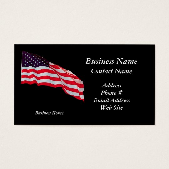 Patriotic US Flag Business Cards