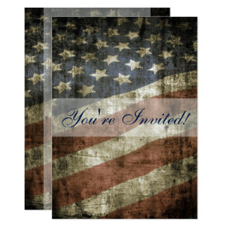 Patriotic US Flag Family Reunion Invitation