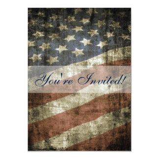 Patriotic US Flag Family Reunion Invitation