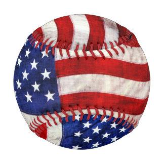 Patriotic US Flag Game Ball Baseball