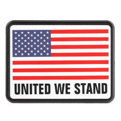 Patriotic US flag hitch cover | United we stand