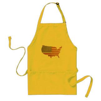 Patriotic US Flag July 4th BBQ Apron