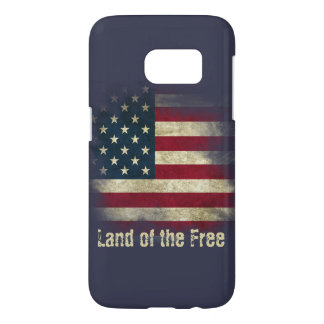 Patriotic US Flag. Land of the Free Samsung Galaxy S7 Case
