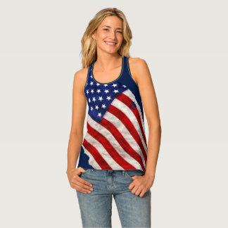 Patriotic US Flag Tank Top