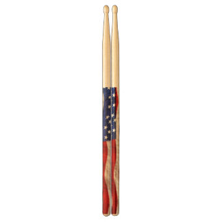 Patriotic US Flag United States Drum Sticks